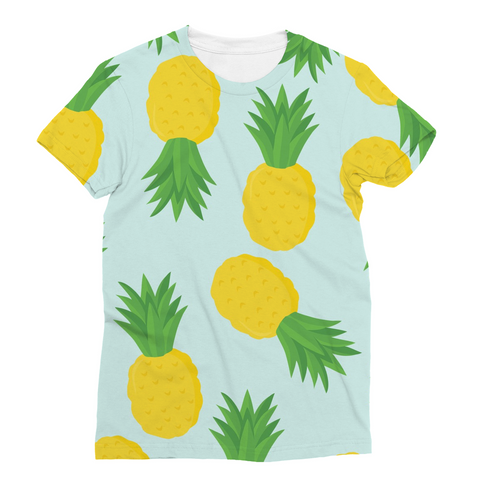 Pineapple Summer Fruit Art Beach Vibe Cool Sublimation T-Shirt