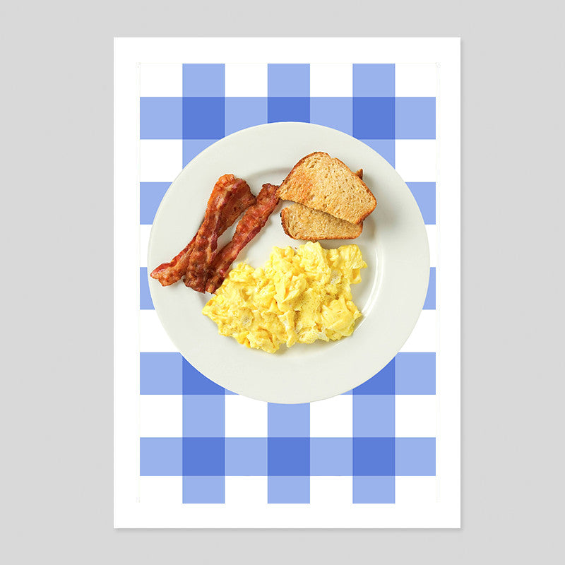 Ron Swanson Parks and Recreation Breakfast Bacon Eggs Poster Minimal Print Quote