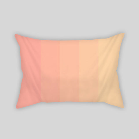 Coral Gradient Modern Pastel Monochrome Room Throw Pillow Rectangle Sofa Couch