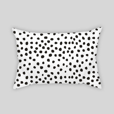 Polka Dots Dalmation Black & White Room Throw Pillow Rectangle Sofa Couch Hom