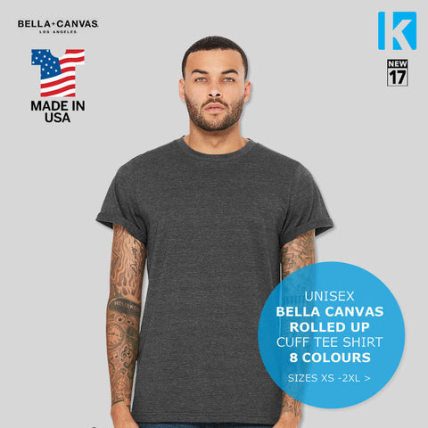Bella American Jersey crew neck T Shirt Rolled Apparel Casual Tee Top Men AA001