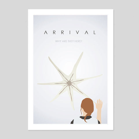 The Arrival Sci Fi Alien UFO Villeneuve Jeremy Minimal Movie Poster 180gm A1-3 Oscars