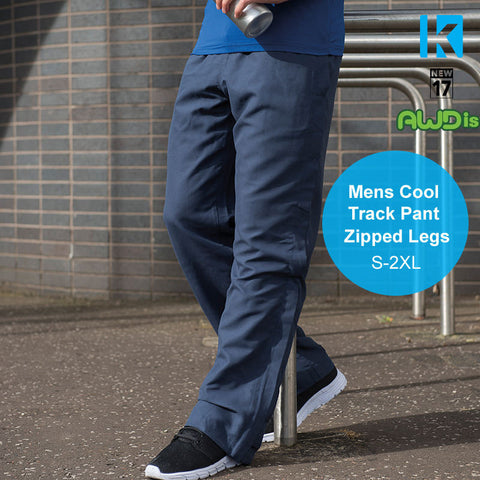 AWDIS Mens Cool Track Pant Zipped Legs Training Workout Running Football Sport