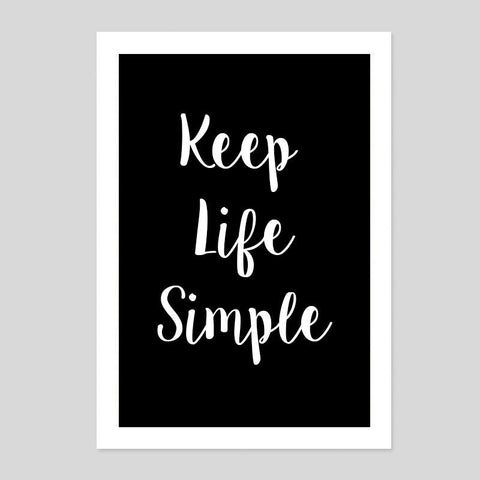 Keep Life Simple Vida Typography Quote Poster Minimal Art Print Room Tumblr