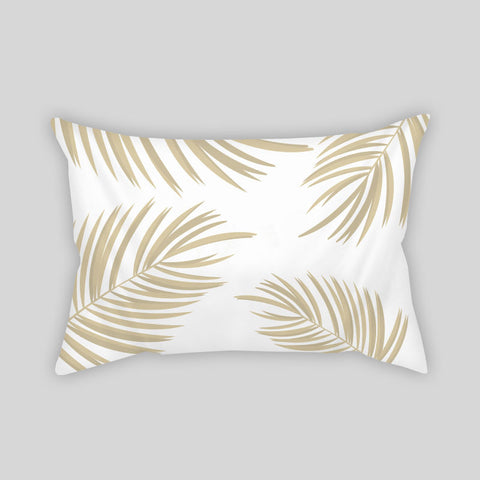 Palm Trees Gold Beach Tropical Cute Room Throw Pillow Rectangle Sofa Couch Home