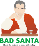 Bad Santa Funny Christmas Billy Bob Thornton Retro Womens T Shirt Mug Set New