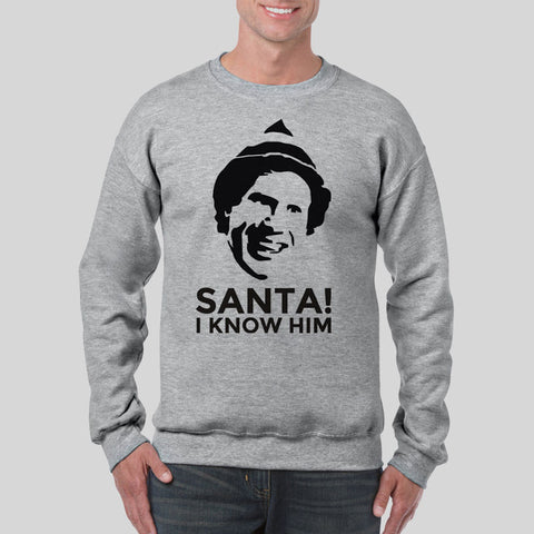 Santa I Know Him Elf Jumper Buddy Will Ferrell Christmas UNISEX Sweatshirt S-3XL
