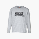 Dr Seuss Magic All You Need Is A Book T-Shirt Long Sleeve Boys Girls Kids Childrens New