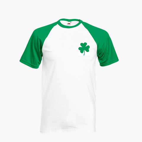 St Patrick's Day Shamrock T Shirt Baseball Ringer S-2XL New