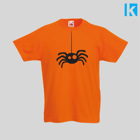Hanging Spider Web Cute Funny Cheap Halloween Costume Kids Top Tshirt