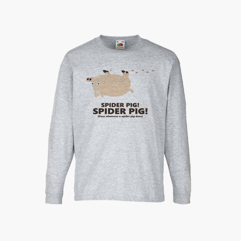 Spider Pig Simpsons Movie Fan Art Unofficial T-Shirt Long Sleeve Boys Girls Kids Childrens New