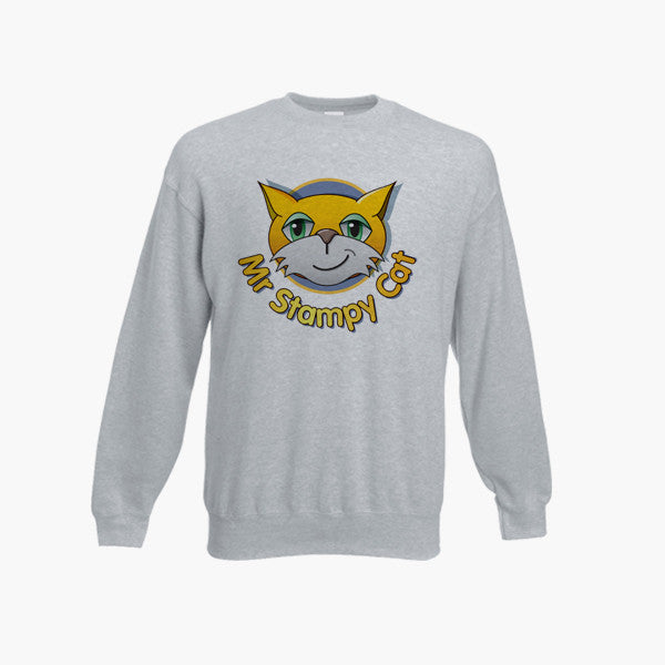 Stampy Long Nose Cat Jumper Sweatshirt Kid Top Mine Funny Craft Ages 1 13 New