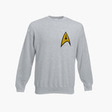 Star Trek Logo Retro Sweatshirt SCI FI Movie Trekkie Jumper Unisex All Sizes New