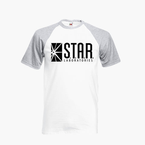 Star Laboratories The Flash S.T.A.R DC Fan Art Unofficial T Shirt Baseball Ringer S-2XL New