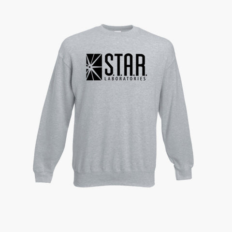 Star Laboratories The Flash S.T.A.R DC Fan Art Unofficial Retro Sweatshirt Jumper