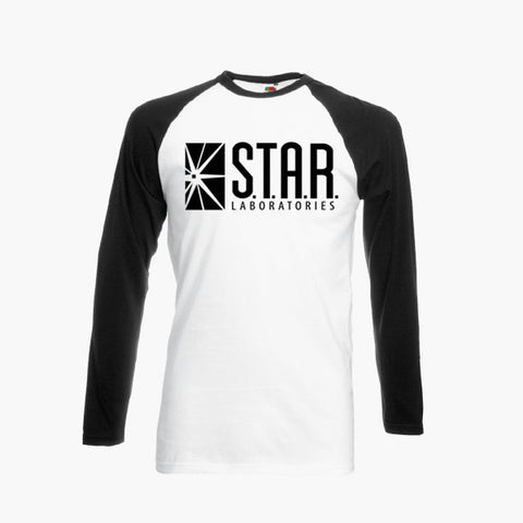 Star Laboratories The Flash S.T.A.R DC Fan Art Unofficial Long Sleeve T-Shirt Unisex Tee S - 3XL New