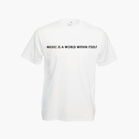 Stevie Wonder Sir Duke Music Is A World Within Itself Retro Music Lyric T Shirt Tee Top New