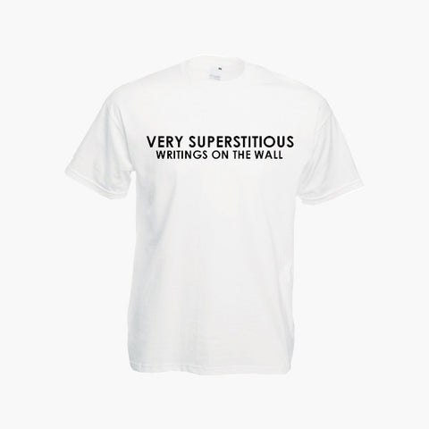 Stevie Wonder Superstition Very Superstitious Retro Music Lyric T Shirt Tee Top New