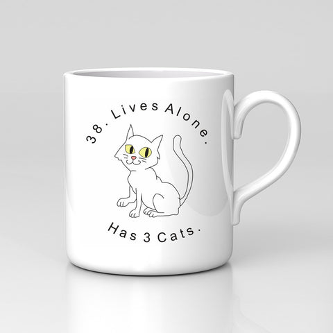 Impractical Jokers Team Q Tattoo Cat Lives Funny Coffee Tea Mug Xmas Gift New