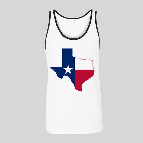Texas State Flag Logo Retro Beer Festival Lone Star Unisex Jersey Tank Top