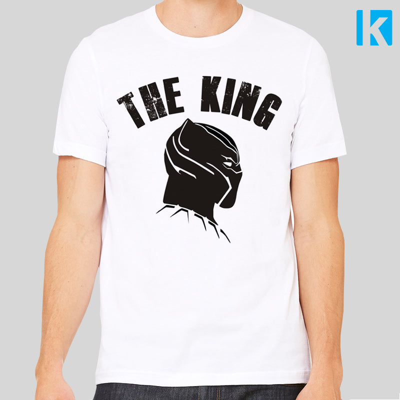 Black Panther The King Unisex Mens T-Shirt Tee Top Wakanda New Cool Film Movie Marvel Comic Book Super Hero Gift
