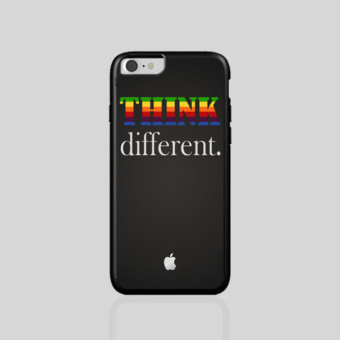 Think Different Apple Steve Jobs iPhone 5 6/6Plus 7/7Plus Case Clear Black White