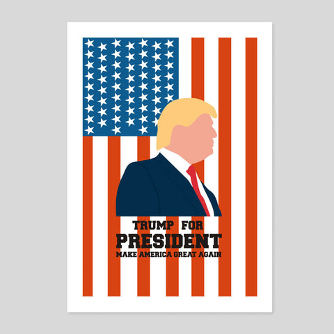 Donald Trump For President Minimal Poster USA America Flag Print 180gm A1-3