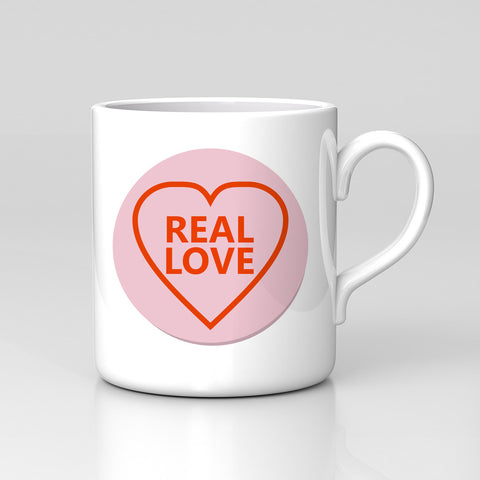 Valentines Day Gift  Real Love Partner Couple Heart Mug Great Birthday Xmas Gift New