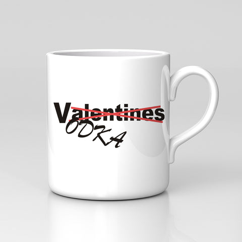 Valentines Vodka Funny Mug Great Birthday Xmas Gift New Love Anti Valentines Day Alcohol