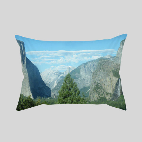Mountains View Scenery Adventure Travel Throw Pillowcase Rectangle Sofa Couch 100% Cotton