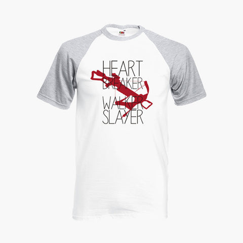Heart Breaker Walker Slayer Crossbow Fan Art Unofficial T Shirt Baseball Ringer S-2XL New