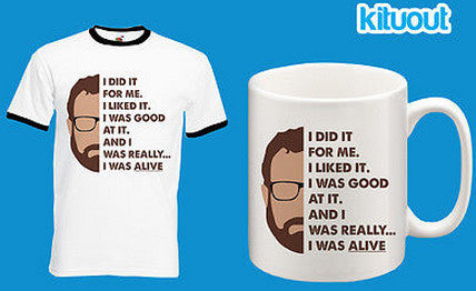 Breaking Bad Walter White I Was Alive T Shirt FOTL Ringer Mug Set Xmas Gift New