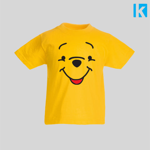 Pooh Bear Fan Art Face Book Classic Winnie Christopher Robin Kids Top Tshirt