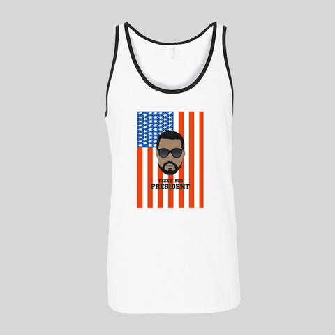 Kanye West Yeezy For President Unofficial Fan Art Unisex Jersey Tank Top