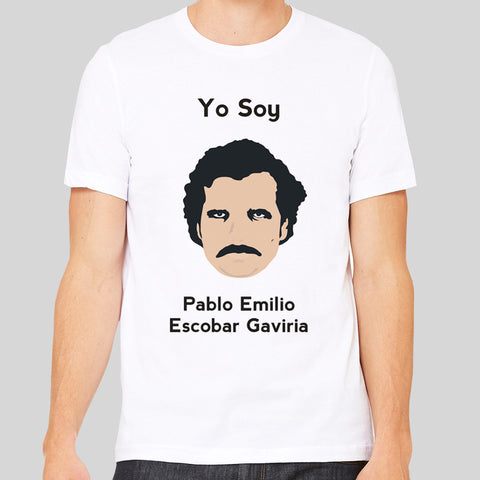 Yo Soy Pablo Escobar Cocaine Drugs King Of Coke Narcos Colombian Men's T Shirt Top
