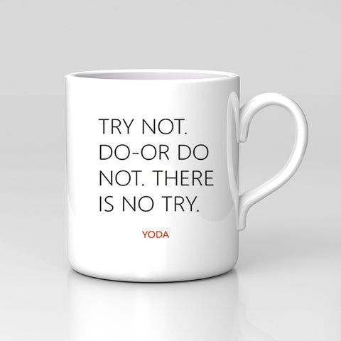 Star Wars Yoda Quote Do Or Do Not There Is No Try Mug Great Birthday Xmas Gift New