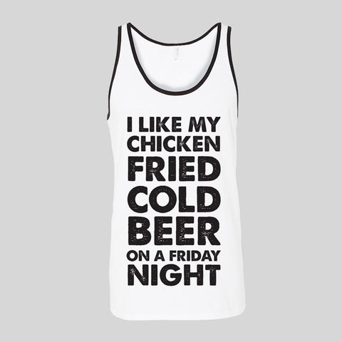 Zac Brown Band Chicken Fried Beer Friday Fan Art Unisex Jersey Tank Top