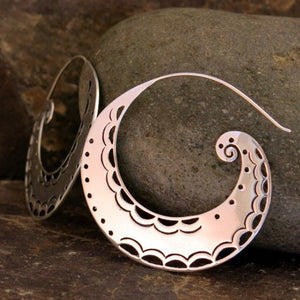 Balinese / Spiral Moon Earrings