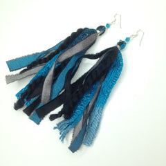 Concetta / Thalia Fringe Earrings, Dark