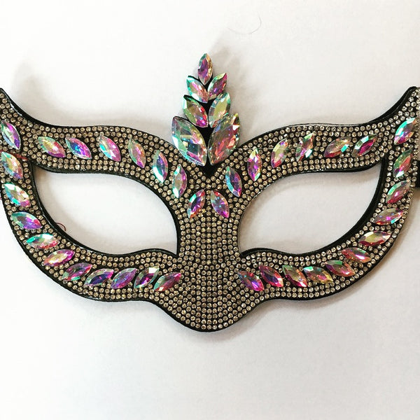 Rhinestone Crested Mask