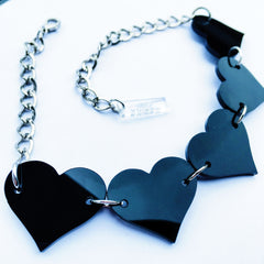 Marina Fini / Black Heart Necklace