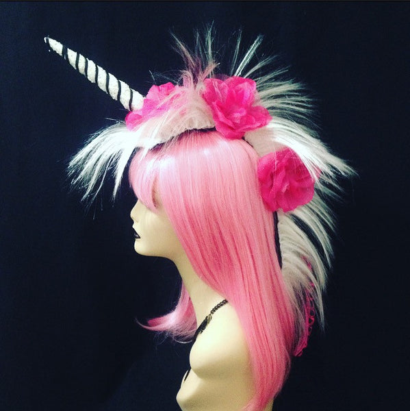 Zebra Unicorn Headpiece