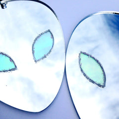 Plexi Alien Earrings