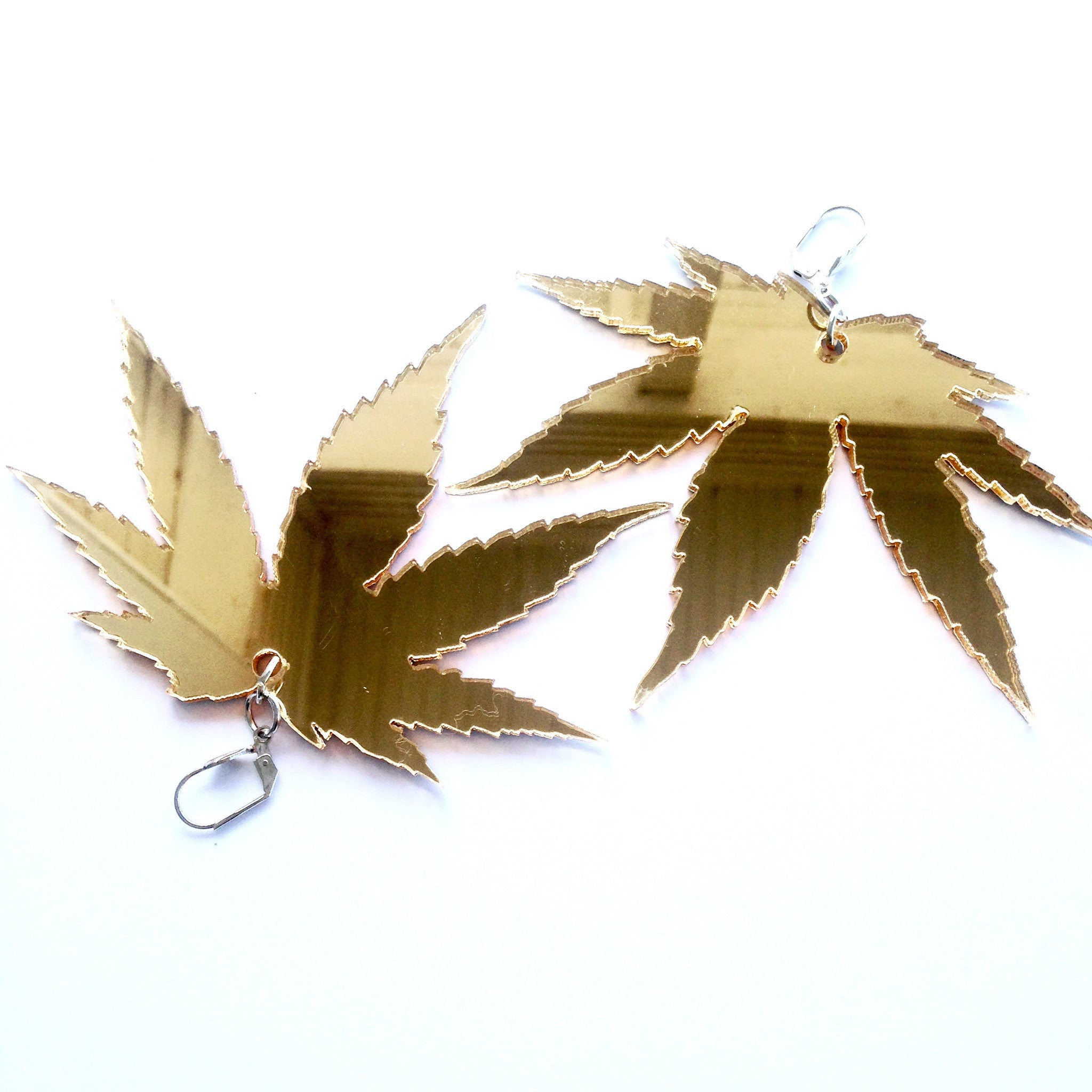 Marina Fini / Cannabis Earrings