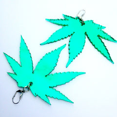 Plexi Cannabis Earrings