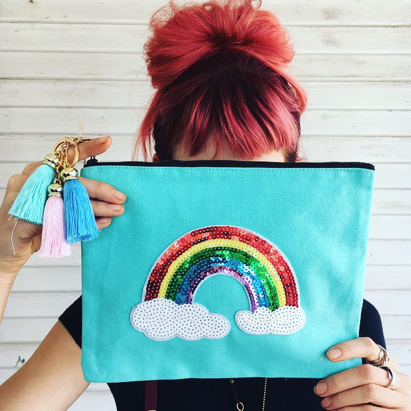 Sequin Rainbow Clutch