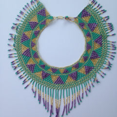 Beaded Fringe Collar