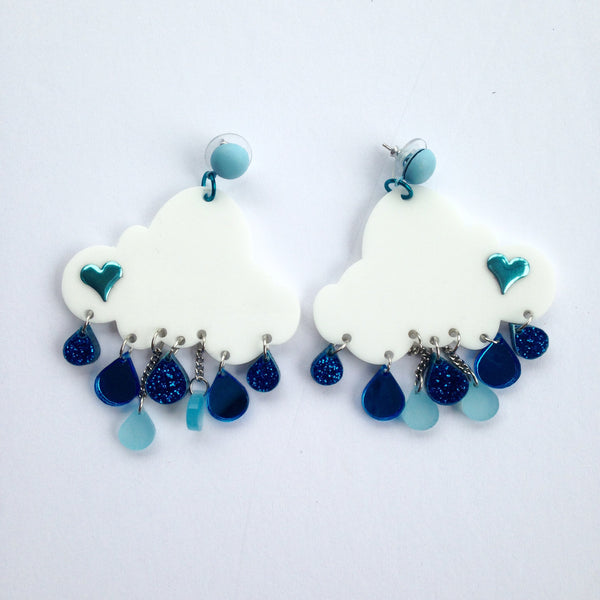 Plexi Raincloud Earrings