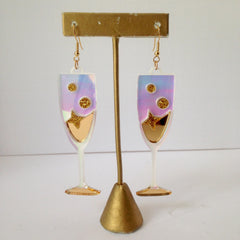 Acrylic Champagne Earrings