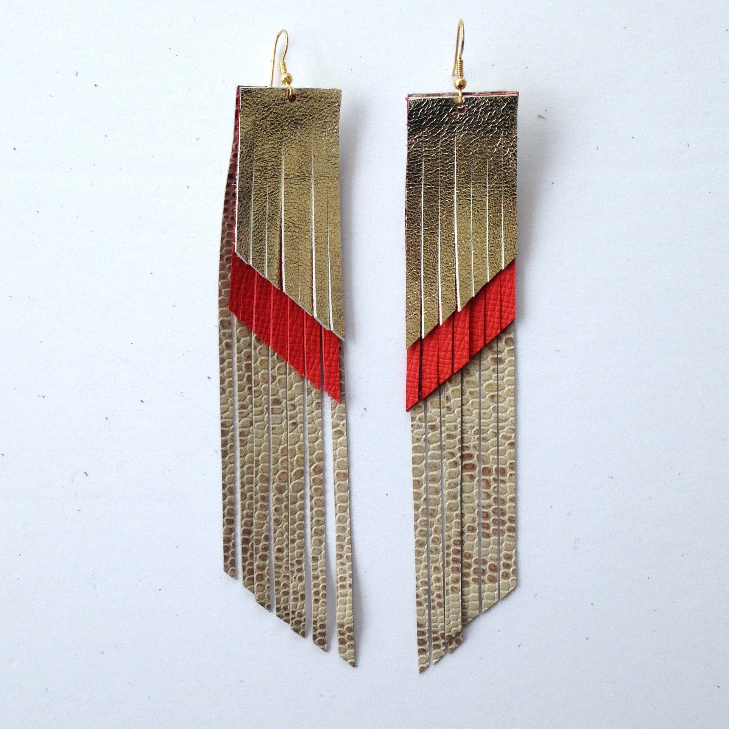 tassel green fringe img earrings